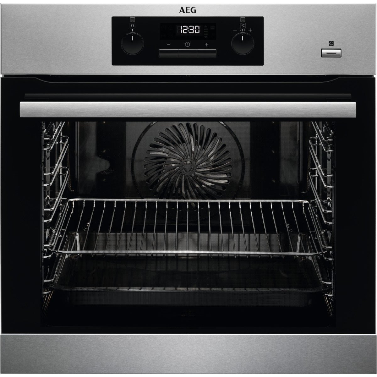 AEG BPS351220M 600mm Built-In Steam Bake Single Electric Oven Pyro