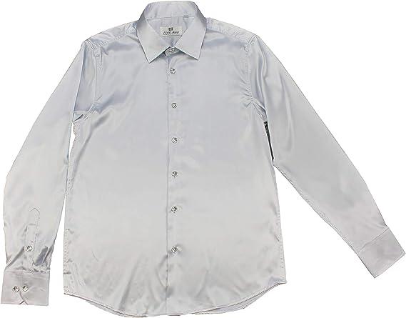 Camisas de Raso para Hombre. Camisa Brillante para Ocasiones Festivas. Camisa de Manga Larga de Seda: Amazon.es: Ropa y accesorios