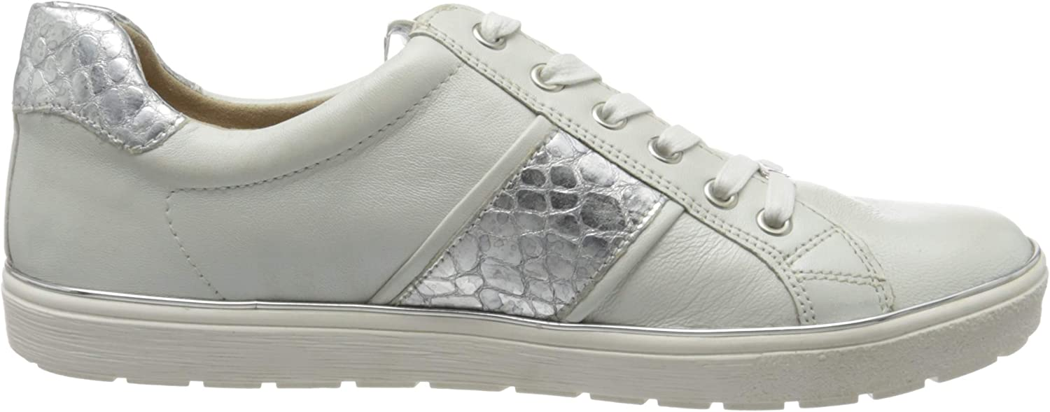 White White Silver 191 Caprice Womens Low-Top Sneakers 7.5 us