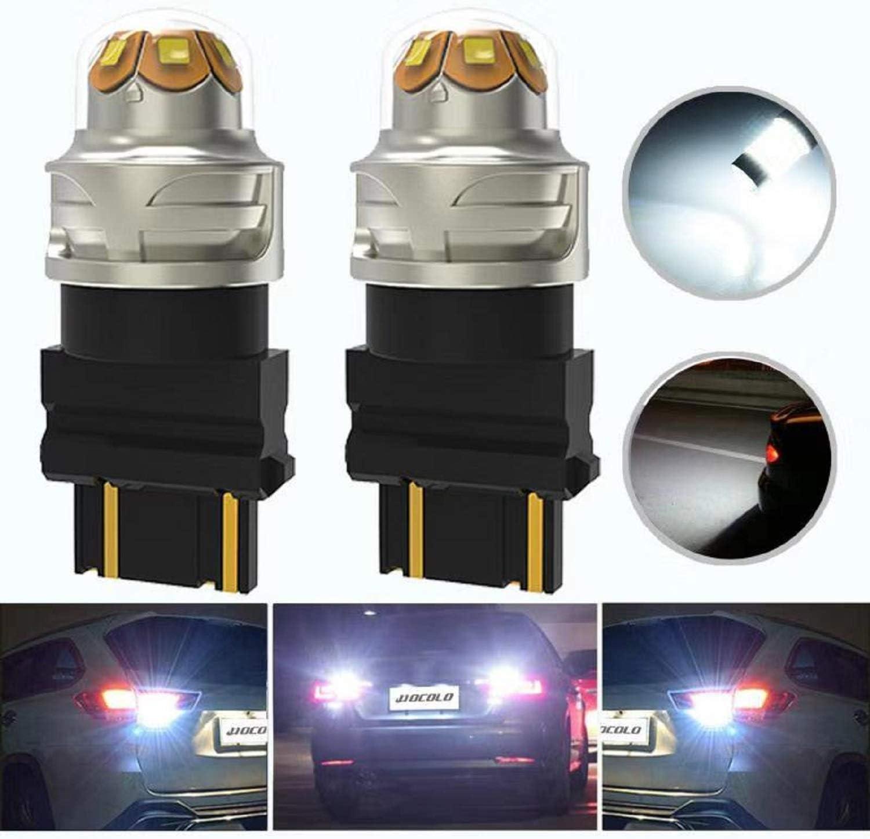 HOCOLO 3157 3156 3357A 3457A 3047 6000K Xenon White Ultra Bright Car LED Light Bulbs-Backup Reverse Turn Signal Switchback Tail Brake Lamp Projector(2pcs 3157 3057 3155 3357 3457 4057 4114 4157 3056)