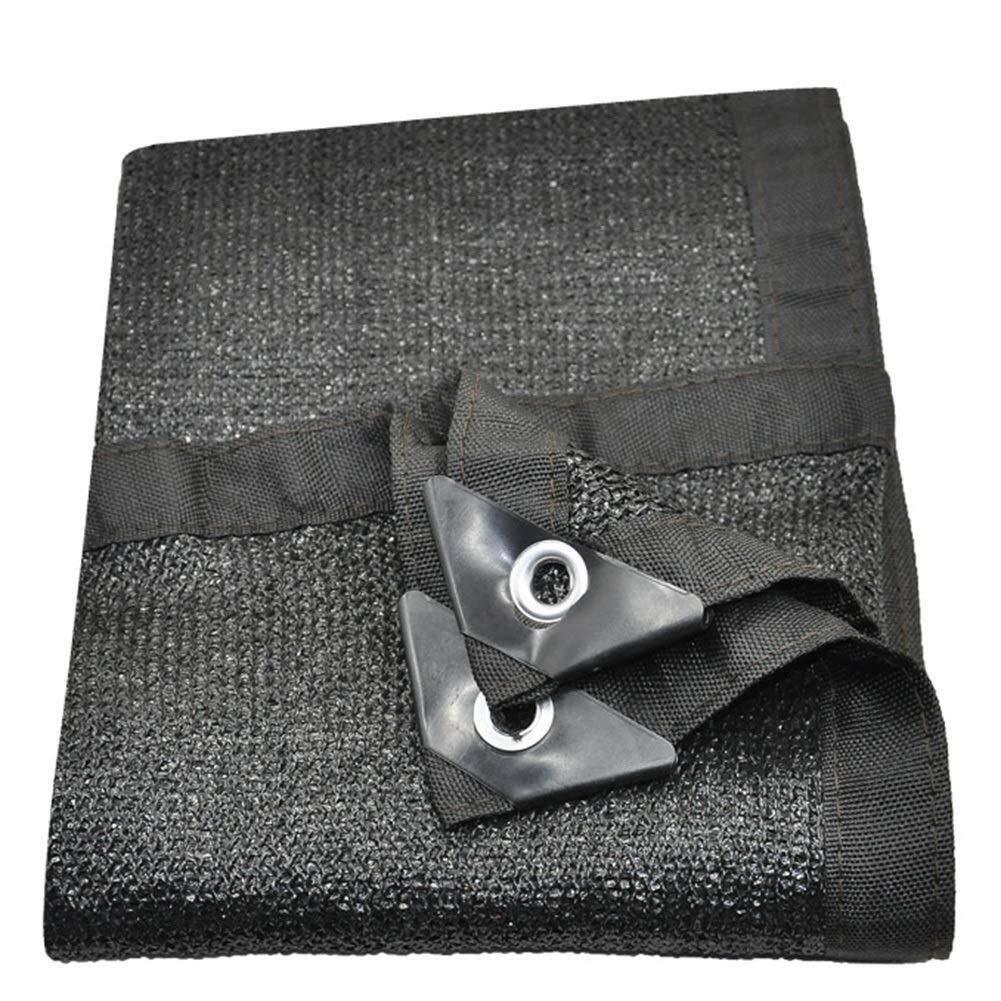 A 3X4m QNJM Auvent Extérieur Noir D'ombre De Soleil, Tissu D'ombre De Prougeection UV, Tissu Résistant Et Durable D'ombre pour Le Jardin, Patio Et Porche (Couleur   A, Taille   4X5m)