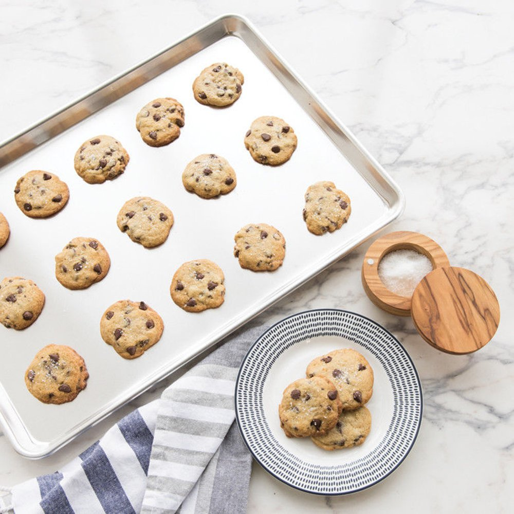 Baking Sheets Set of 3, HKJ Chef Baking Pans 3 Pieces & Stainless Steel Cookie Sheets & Toaster Oven Tray Pans, Non Toxic & Healthy, Mirror & Easy Clean by HKJ Chef (Image #7)