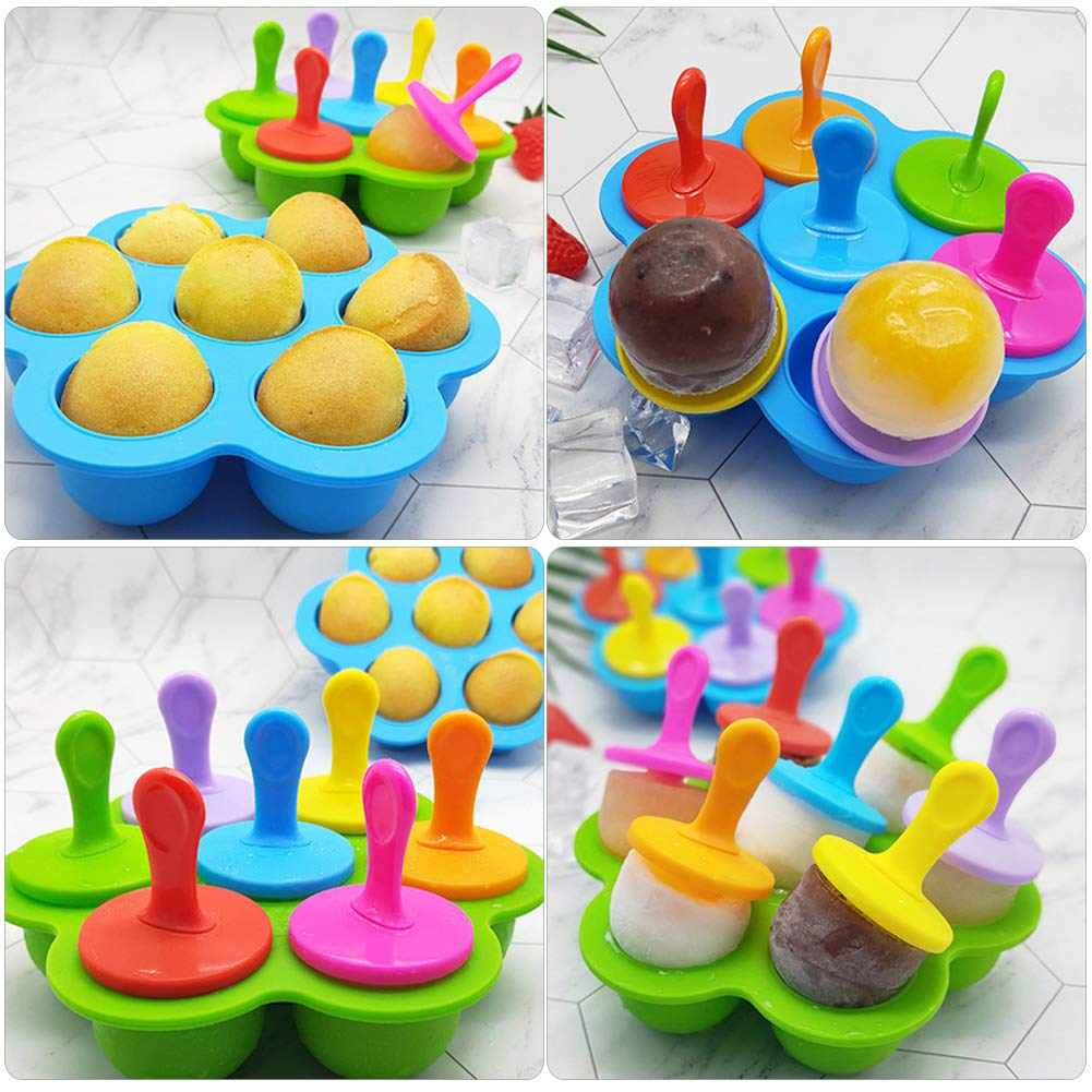 Billion Seed Silicone Egg Bites Molds for Baby Food Freezer Trays,Instant Pot Accessories with Popsicle Molds by Billon seed (Image #8)
