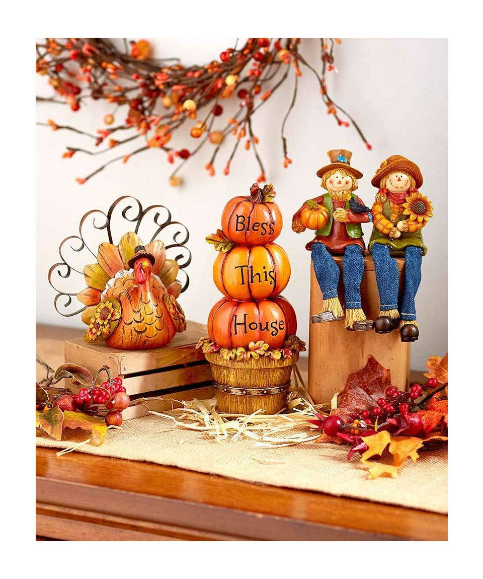 Online Discounts Gifts Fall Gift Collection Thanksgiving Autumn Home Decor in Different Designs (Pumpkin Stack) NA