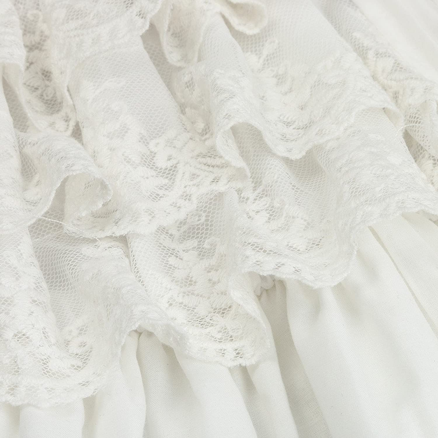 Amazon.com: HotMoon Baby Girls Off Shoulder O-Neck Short Sleeve Lace Princess A-Line Party Wedding Pageant Dress: Clothing