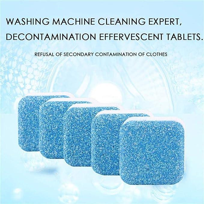 5PCS Lavadora Tanque Tabletas de limpieza Limpiador de bombas de tina Lavadora Descontaminación Detergente de limpieza Tabletas efervescentes Limpiador Descalcificador Eliminador de limpieza: Amazon.es: Coche y moto