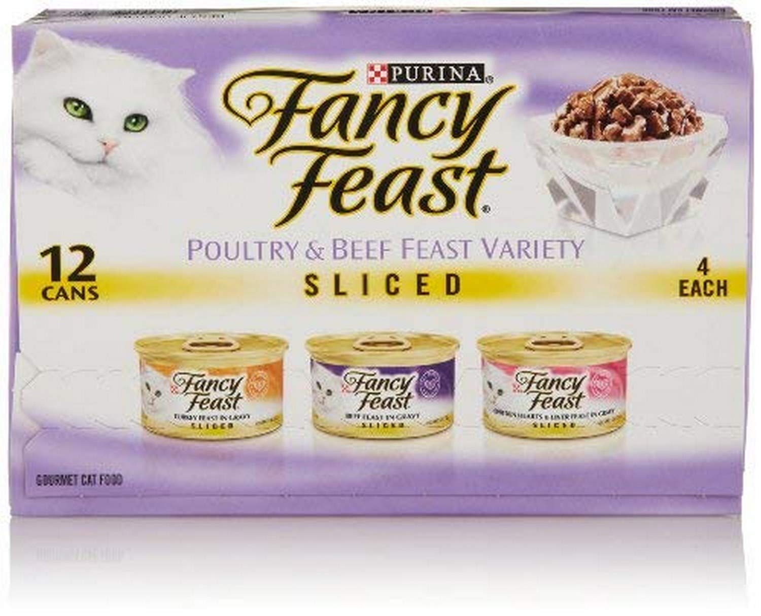 i-Healz Wet Cat Food, Sliced, Poultry & Beef Feast Variety Pack, 3-Ounce Cans, 12 Cans