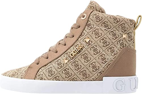 Guess Portly Beibr Womens Eco Leather Wedge Trainers Amazon It Scarpe E Borse