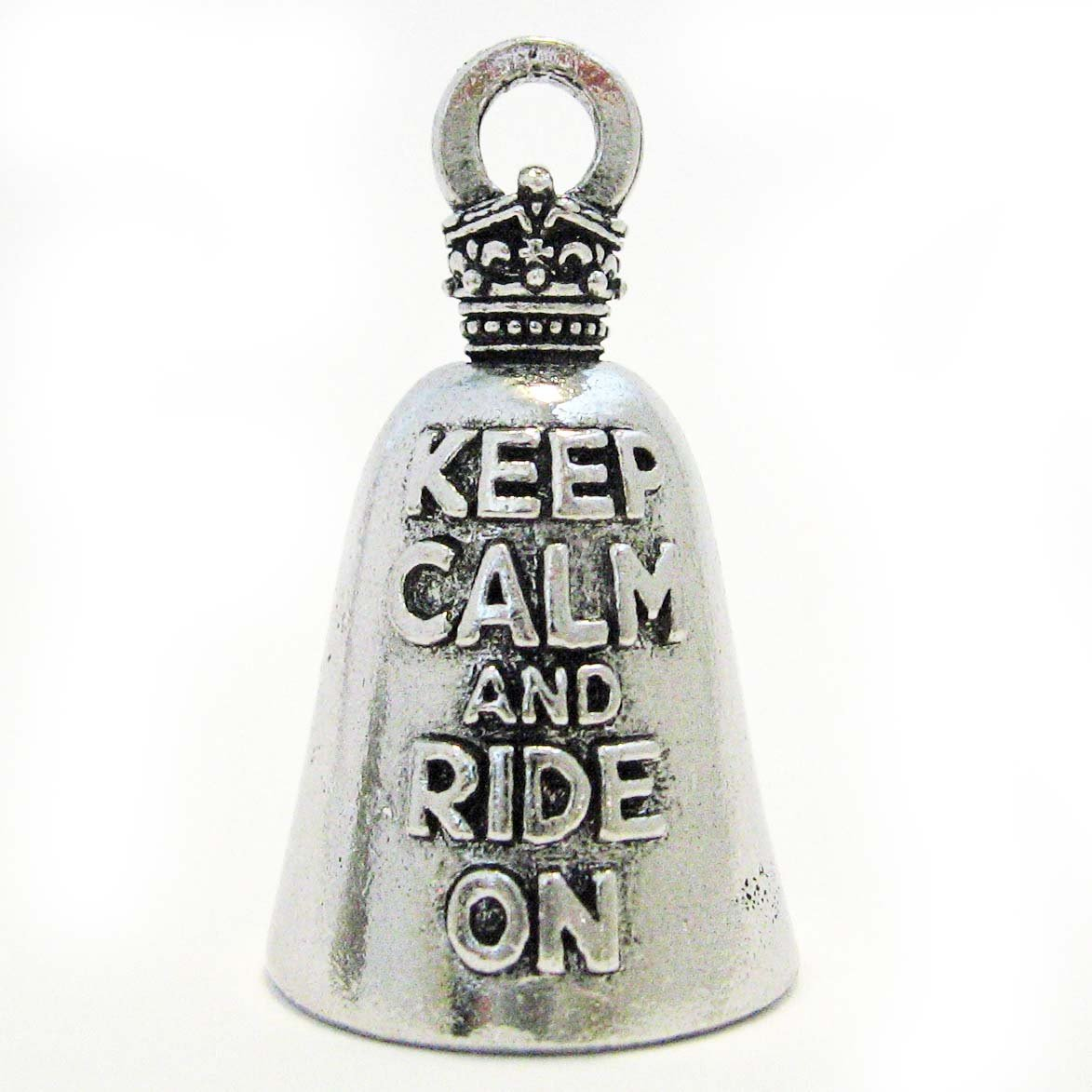 Guardian/® Keep Calm and Ride on Motorcycle Biker Luck Riding Bell or Key Ring