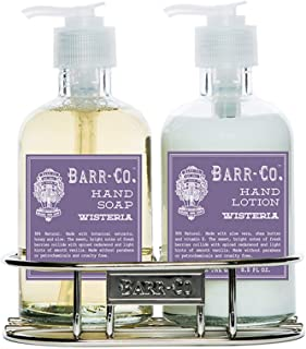 product image for Barr Co 8oz Hand Soap & Lotion Duo with Silver Caddy (Wisteria)
