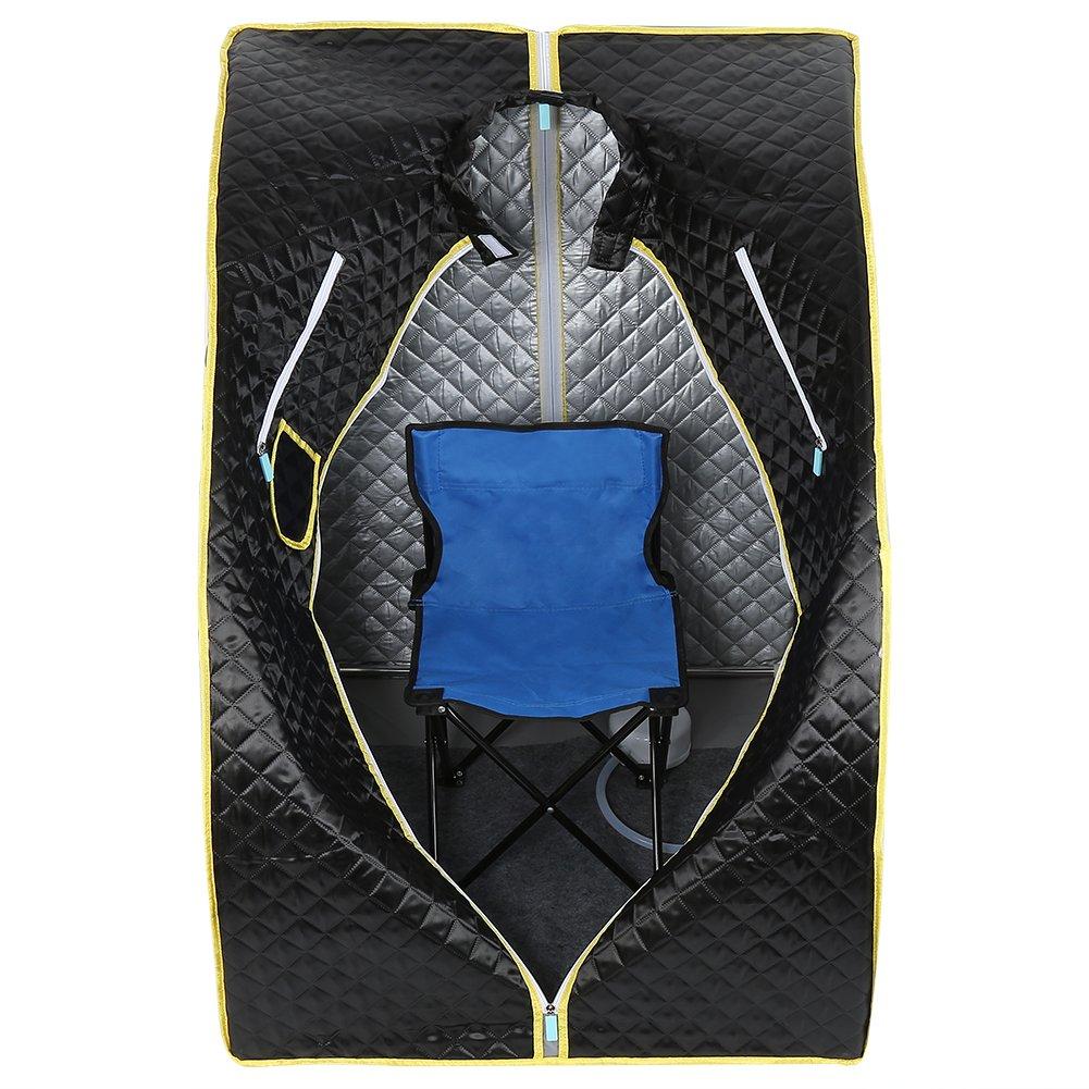 Silber Tragbare Mobile Dampfsauna Personal Spa Body Heater Entgiften Abnehmen Gewicht Home Zimmer 98x70x80cm 1.8L