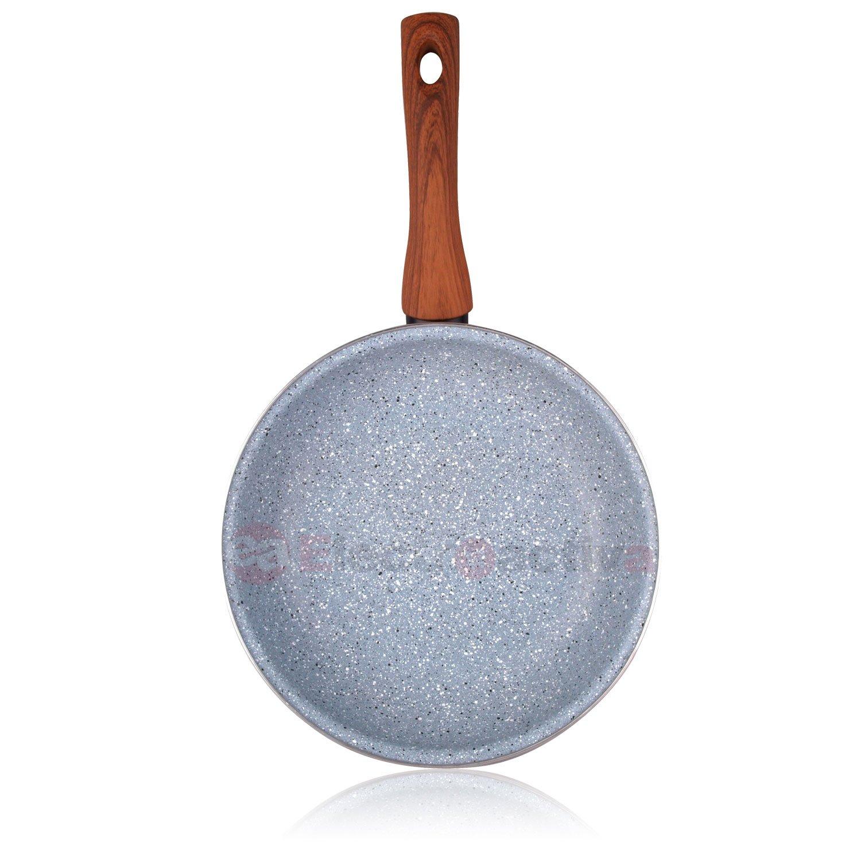 Magefesa Marmol - Set Juego 3 Sartenes 20-24-28 cm inducción antiadherente granito piedra libre de PFOA, limpieza lavavajillas apta para todas las ...