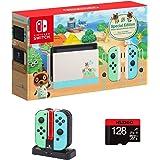 "Nintendo 2021 Switch Family Holiday Bundle - Animal Crossing, 6.2"" Touchscreen LCD Display, Bluetooth + NexiGo_ Joy-Con and P"