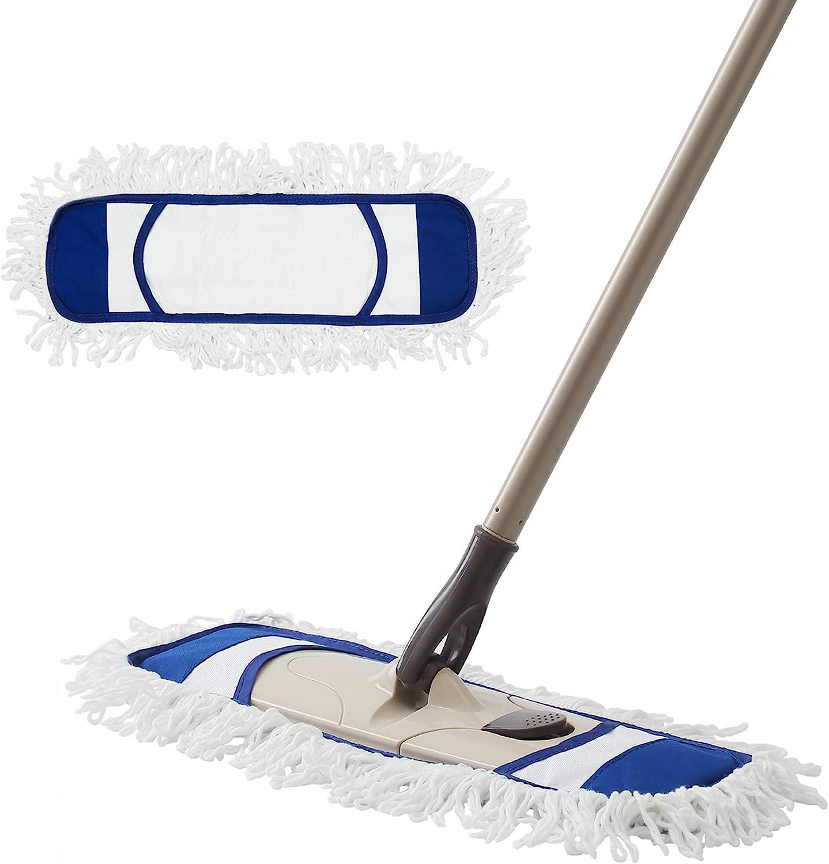Floor Mop Sponge Head Floor Cleaner Super Absorbent Adjustable Long Handle Grey