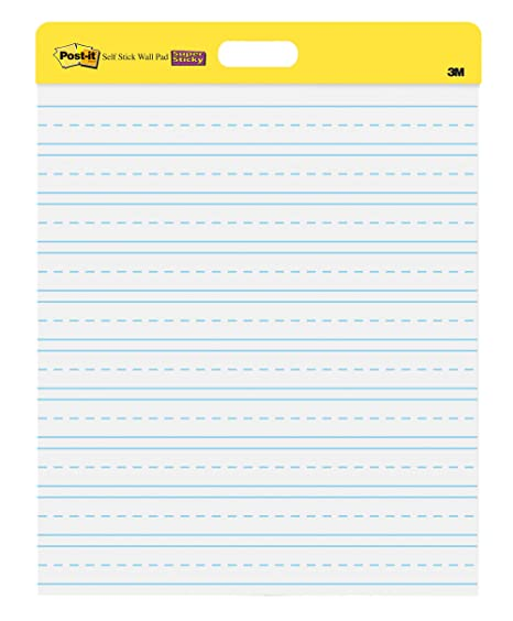 3 Pads 20x23 Inches 20 Sheets//Pad Post-it Super Sticky Portable Tabletop Easel Pad