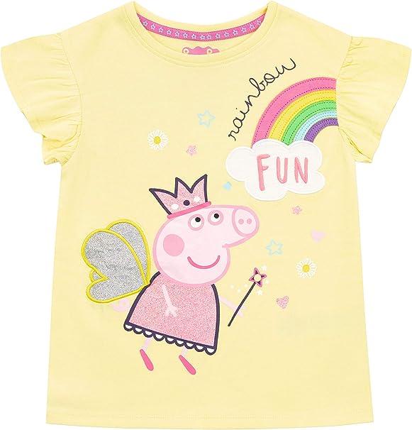 Peppa Pig Camiseta de Manga Corta para niñas: Amazon.es: Ropa y ...