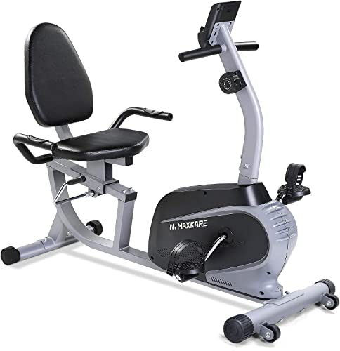 Maxkare Magnetic Recumbent Exercise Bike Indoor Stationary Bike