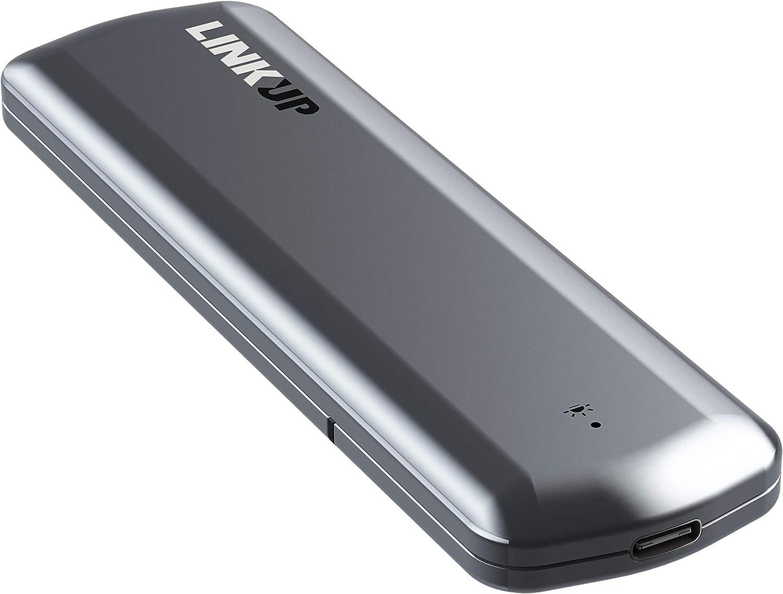 LINKUP Premium sin Herramientas NVMe SSD 10 Gbps Gabinete M.2 a USB C Adaptador   Aluminio USB 3.1 Gen 2 a PCIe Gen3 x2 Puente Chip   Compatible con Windows Mac Samsung 960/970 EVO/Pro WD Negro Intel