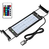 COODIA Aquarium Hood Lighting Color Changing Remote Controlled Dimmable RGBW LED Light for Aquarium/ Fish Tank, High Quality Extendable upto 28 inches (For Fresh and Salt Water)