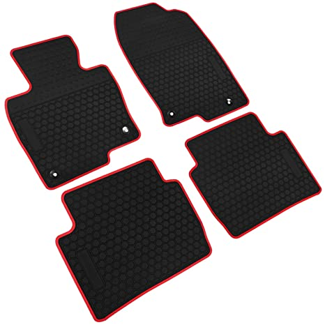 Iallauto All Weather Floor Liners Custom Fit Mazda Cx 5 Cx5 2017 2018 2019 Heavy Duty Rubber Car Mats Vehicle Carpet Odorless Black Red