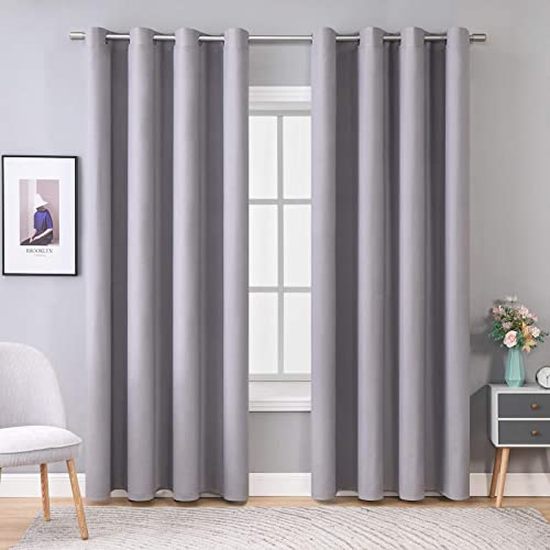 MIULEE 100 Blackout Curtains Thermal Insulated Solid Grommet Curtains/Drapes/Shade
