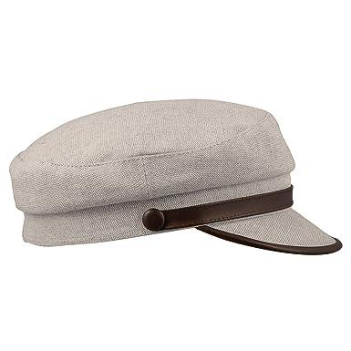 04a4b4aa733 Sterkowski Summer Linen Ringo Breton Cap 59 cm Beige Brown  Amazon ...