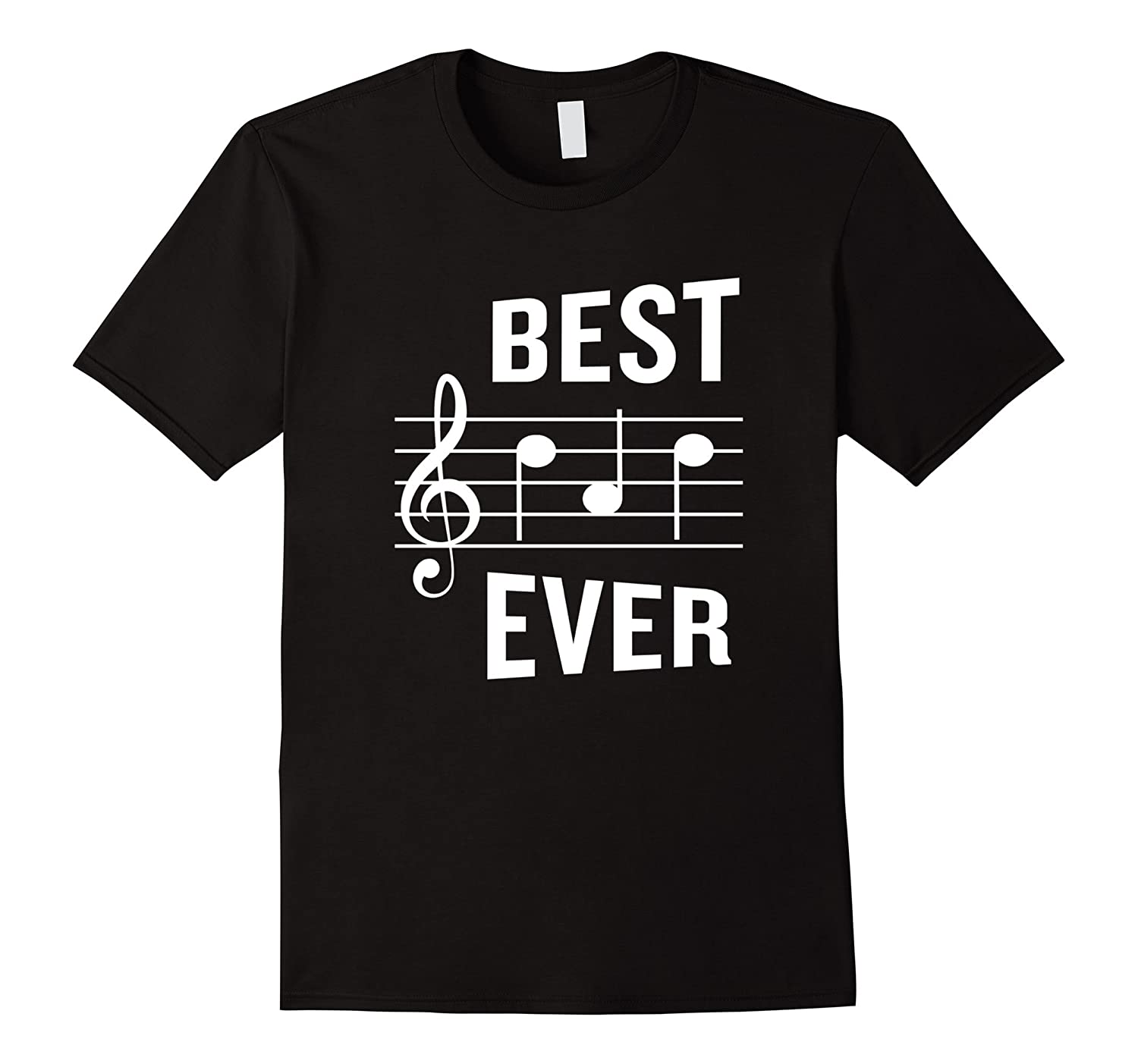 Best Dad Ever T-Shirt Funny Music Note Fathers Gift-PL
