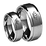 Amazon Price History for:Her King/His Queen Ring Silver Stainless Steel Wedding Bands Engagement Promise Rings Anniversary Gifts