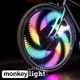 Monkey M232 Waterproof 32 Full Color LED Bike Wheel Light - Black, 200 Lumen