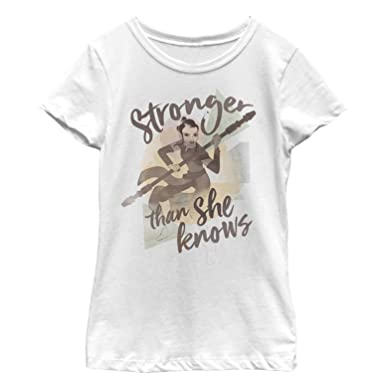 be647250 Amazon.com: Star Wars Forces of Destiny Girls' Rey Stronger T-Shirt ...