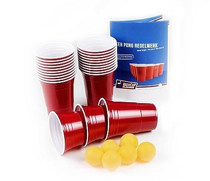 Beercup Classics 100 Vasos Rojos Para Jugar Al Beer Pong Para