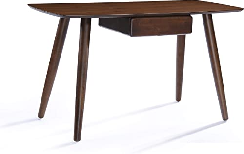 Christopher Knight Home Kiersten Wood Study Table with Faux Wood Overlay, Natural Walnut Finish