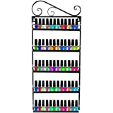 DAZONE Nail Polish Wall Rack Organizer Holds 50 Bottles Nail Polish Shelf Black