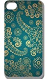 iMemoryshop Designer Style iPhone 5/5s Pretty Damask Paisley Floral Aqua Blue Turquoise Pastel Retro Vintage Abstract Art Case/Cover