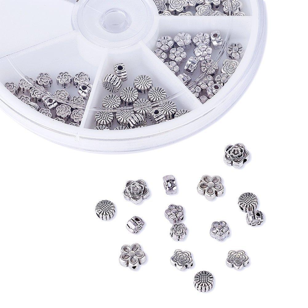 Pandahall 5-Petal Iron Filigree Flower Bead Caps 18x8mm Jewelry Making End Caps About 200pcs/box