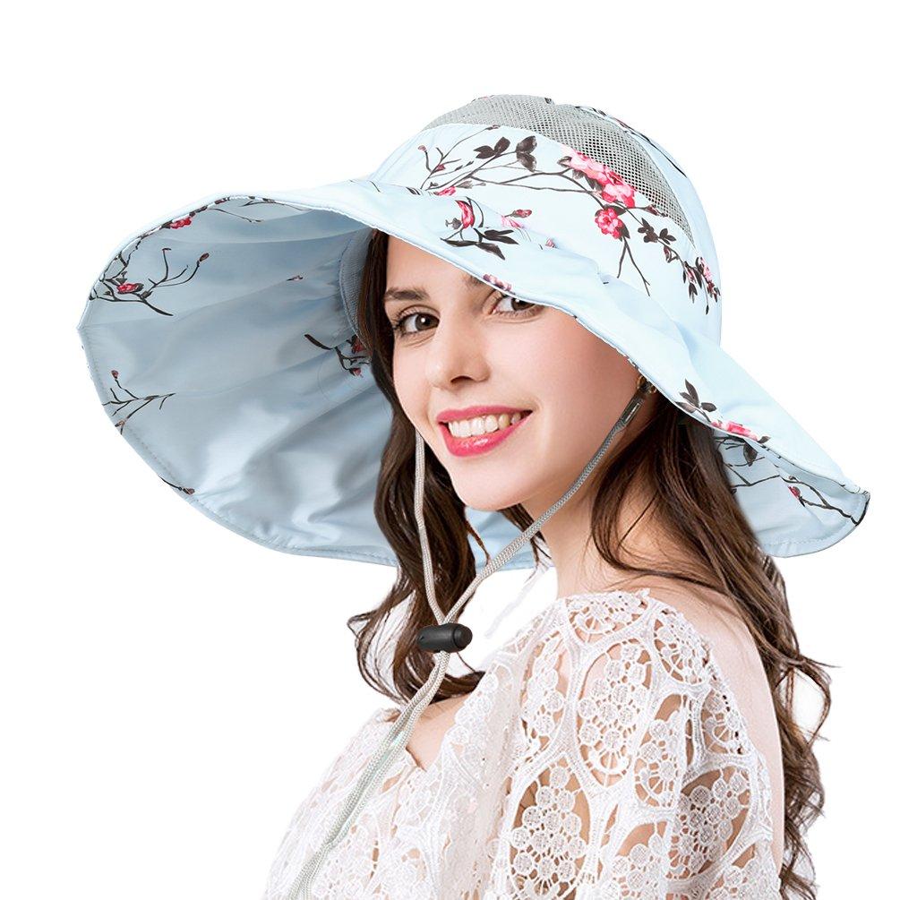 VBIGER Femmes Chapeau De Soleil Élégant Chapeau Large Bord Pliable Chapeau  Chic Pratique pour Le Voyage dff1be7ebbb