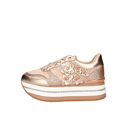 scarpe sportive eee15 8506a Guess FL5HINLAC12 Sneakers Donna Rosa 40: Amazon.it: Scarpe e borse