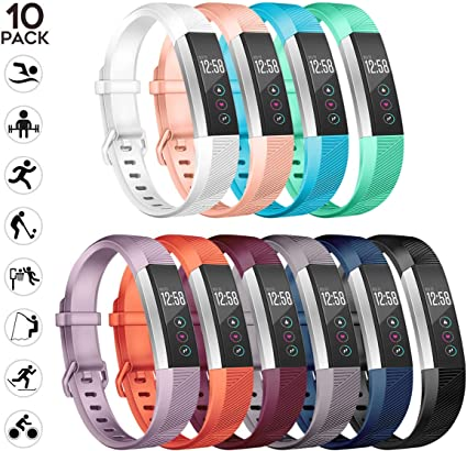 US Replacement Silicone Wrist Band Strap Clasp Buckle Fashion For Fitbit Alta mu