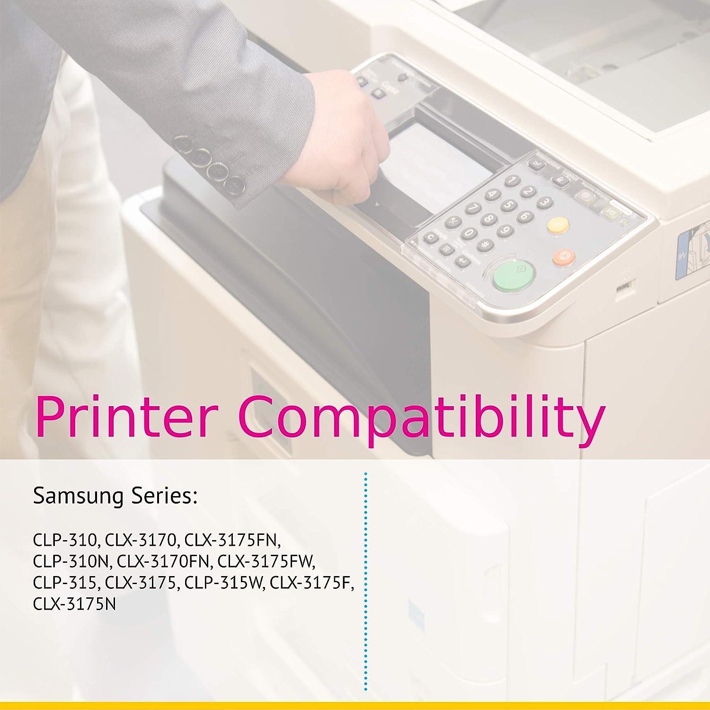 Clever Compatible para impresoras Samsung CLP 310 (CLT-K409S, CLT ...