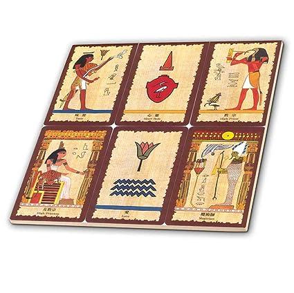 3dRose CT 62344 _ 1 Antiguo Egipcio Tarot Tarjetas baldosa ...