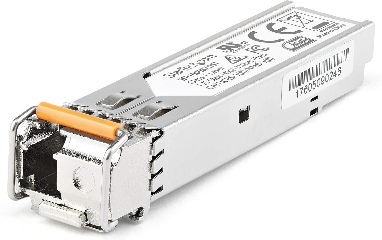 StarTech.com Dell EMC SFP-1G-BX40-D Compatible SFP Module - 1000BASE-BX-D - 1 Gigabit Ethernet BiDi Fiber Single Strand SFP - LC 40km (SFP1GBX40DES)