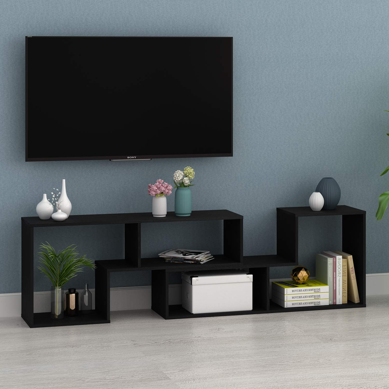 Amazoncom Devaise Tv Stand Modern Entertainment Center Media