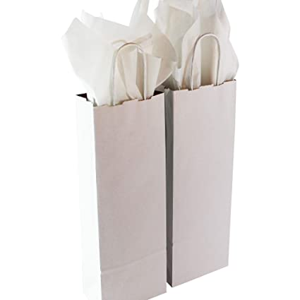 amazon com saybrook products kraft paper wine bags with handles