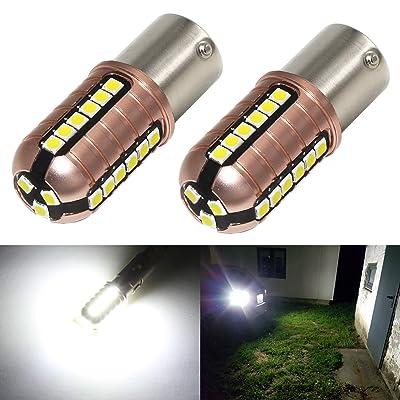 Phinlion 3000 Lumens 7506 LED White Bulb Super Bright 3030 27-SMD BA15S 1003 3497 1156 LED Bulbs for Back Up Reverse Lights, 6000K Xenon White: Automotive