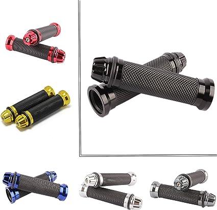 22mm Puños Acoples de Manillar para Moto Bici Goma Manillar para Motocicleta Bicicleta Suciedad Motocross Universal 7/8