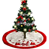 36 Inch Christmas Tree Skirts Holiday Tree Ornaments Plush Tree Skirt Decoration for Christmas Decoration New Year Party Supply
