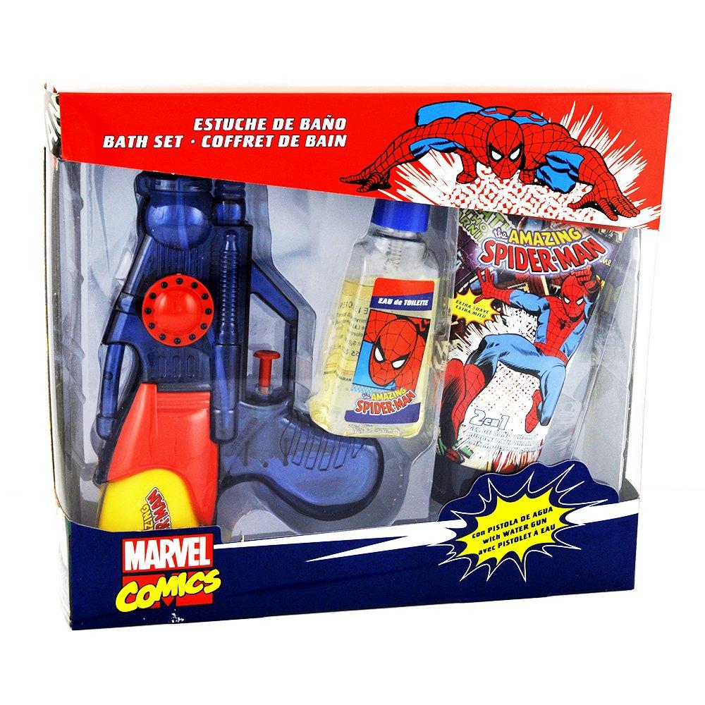 Spiderman EMD Coffret Cadeau Enfant avec Eau de Toilette 75 ml/Gel Douche/Pistolet à Eau 3 Pièces 2527