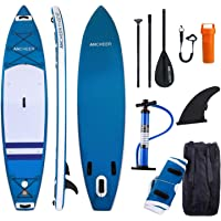 WeSkate Inflatable Stand UP Paddle Board, inflatable SUP Board, inflatable Paddle Board, iSUP Board with Adjustable Paddle, Leash, Pump and Backpack
