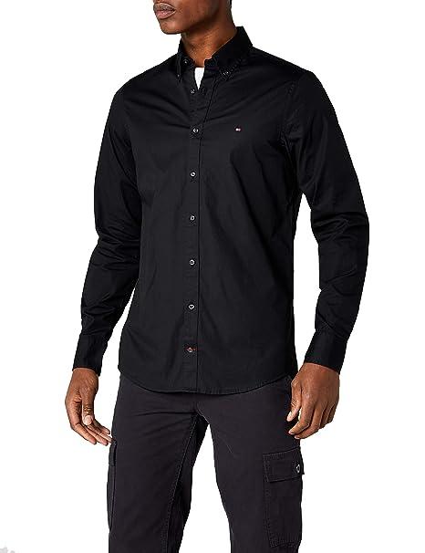c6854f2b1e719 Tommy Hilfiger Men s Stretch Poplin Slim Fit Long Sleeve Casual Shirt