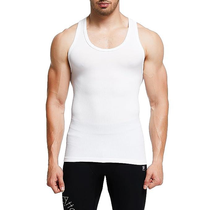 3798a8f1e19 GKVK Men Body Shaper Slimming Shirt Tummy Waist Vest Abdomen Shirt ...